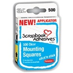 Scrapbook Adhesives Click 'n Stick Mounting Squares - Clear