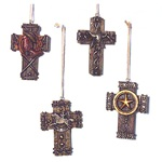 Western Cowboy Cross Christmas Tree Ornament Set