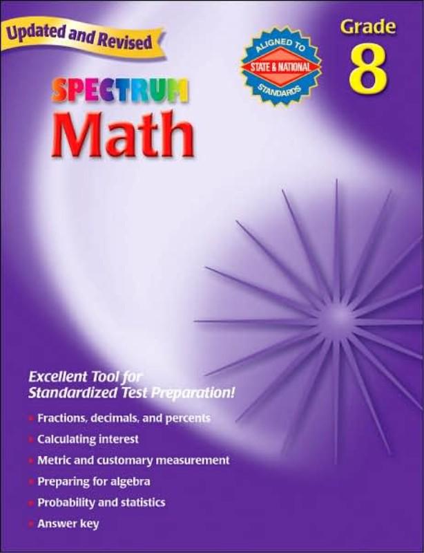 Spectrum Math Grade 8 - Seton Educational.