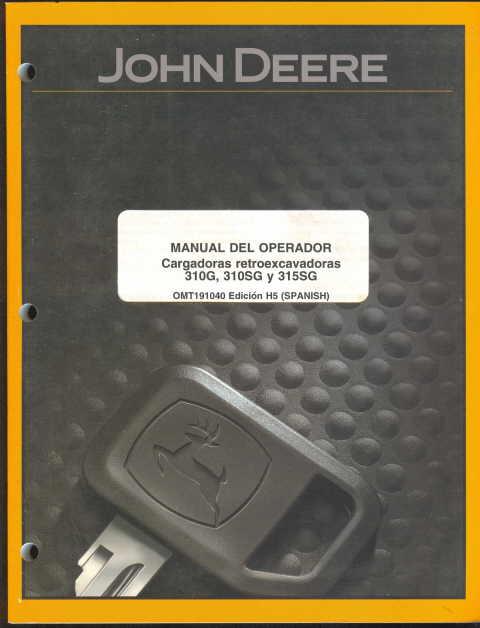 john deere 310g backhoe manual