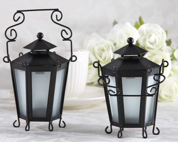 Garden Park Mini Black Lanterns Wedding and Special Event Table Decoration