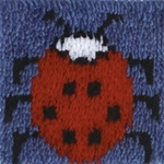 Caron Lady Bug Latch Hook Rug/Pillow Kit