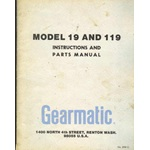 Gearmatic 19, 119, Winch operators, parts