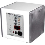 """Earthquake MiniMe P8/W 8"""" 320 Watt Compact Powered Subwoofer With Passive 8"""" SLAP White Laquer Finish"""