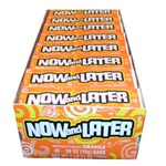Now and Later Orange Flavored Candy Forty Eight 4 Piece Bars
