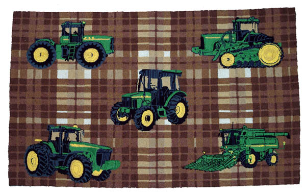 john deere kitchen rug john deere plaid wool rug