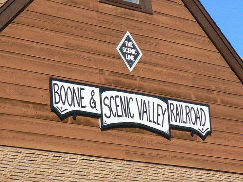 All aboard the Boone and Scenic Valley Railroad!