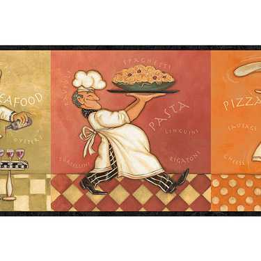 kitchen wallpaper border. Fat Chef Wallpaper Border