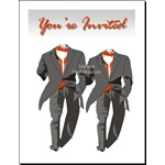 Two Tuxedos Gay Wedding Invitation