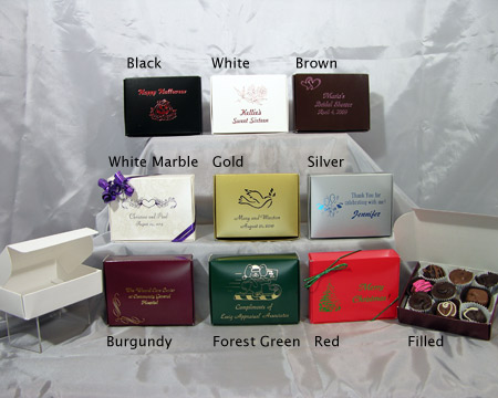 Our elegant personalized cake boxes will hold a generous slice of wedding