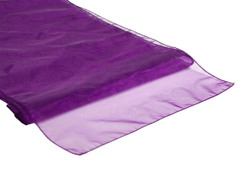 Purple Organza Table Runner Enlarge Image