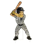 Lawn Ornament - Lighted Outdoor MLB Baseball Statue - Christmas Decoration - Detroit Tigers Animated Lawn Figure (Anaheim Angels Animated Lawn Figur