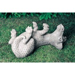 "1Lawn Ornament GARGOYLE STATUE - CONCRETEDopey Dragon Statue H11.5"" W21.1"" D17.9"" Shown In Natural Finish. Suitable for indoor and outdoor use."