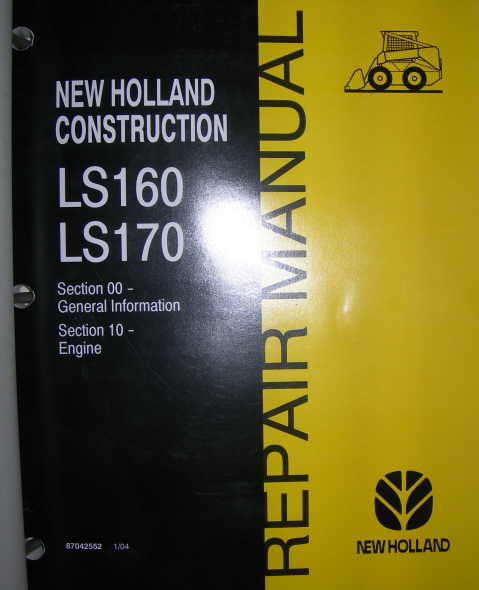 New Holland Ls170 Skid Steer Owners Manual