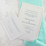 Pearl Border White Invitation Kit