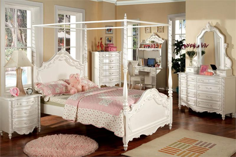 Emily Shabby Chic White With Pink Sand-Through Carriage Canopy