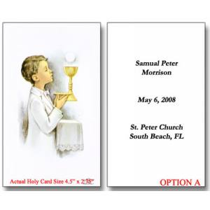 photograph regarding First Communion Cards Printable named Printable to start with communion holy playing cards Trials Eire