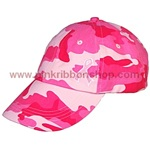 Pink Camo Breast Cancer Awareness Baseball Cap/Hat