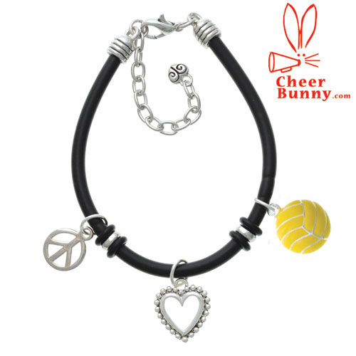 Rubber Steel Bracelets : Wholesale Charms -- OK-Charms, letter