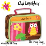 Stephen Joseph Lunch Box--OWL LUNCHBOX--can be personalized--#2222