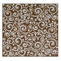 Lillypilly Aluminum Square Metal Sheet Brown With Paisley Pattern - 3x3 Inch
