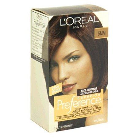 Loreal Preference Hair Color - Medium Mahogany Brown 5mm by L'Oreal ...