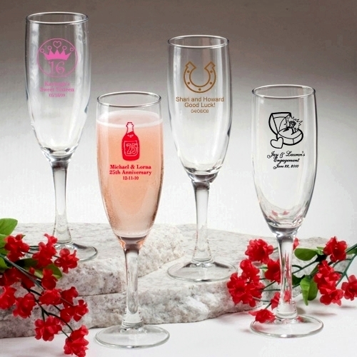 Champagne Flutes Favors Personalized Glassware