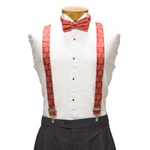 "Nebraska Suspenders - University of Nebraska Red Suspenders with ""N"" Logo"
