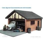 Double Garage Building Diorama 1-24 American Dioramas