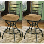 Set of 2 Antigo Bar Stools Black D233-124