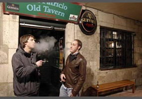 debate secondhand smoke in public places Rule for bars, restaurants and other public places puts to an end to the country's status as one of the last havens for tobacco smokers in europe  men smoke cigarettes in a pub on a last day before a smoking ban comes into.