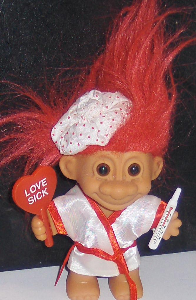 Love Sick Red Hair Russ Troll Doll Mint. Russ troll doll in New Condition.