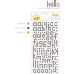 American Crafts AMY TANGERINE Thickers - Fabric Printed / Hello / Truffle **CLEARANCE