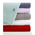 Lacoste Brushed Twill Pillow Cases - King Sheets Bedding - Brown - 11566506