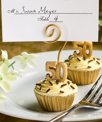 Golden wedding anniversary or 50th birthday party favors