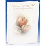 God's Treasure - A Catholic Baby's Record Book (Malhame 1034-3)