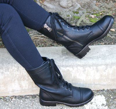 Fashion Combat Boots Size on Vegan Combat Style Boot By Steve Madden Out Of Stock Your Price   39