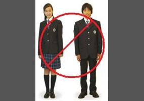 school uniform should not be abolished I don't think school uniforms should be scrapped because they stop bullying,  peer pressure and you don't have to worry about what your going.