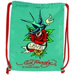 ED HARDY EB06DRWBFL DREW BIRDFLOWER TURQUOISE DRAWSTRING