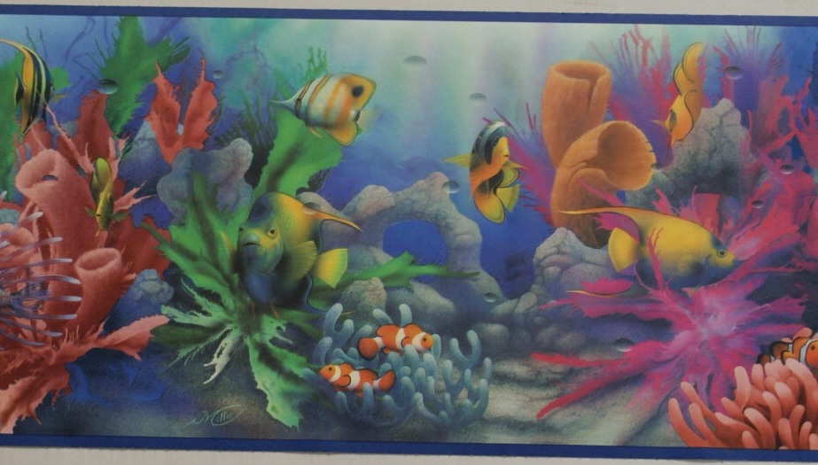 fish wallpaper border. OCEAN FISH WALLPAPER BORDER