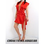 """RED Gorean Style Slave Camisk for Kajira Roleplay -19"""" width"""