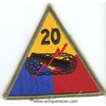 US ARMY 20th ARMORED DIVISION PATCH