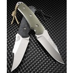 MIL-TAC HH-1 Hide Hunter, Black G-10 Handle, S30V Plain Edge, Nylon Sheath