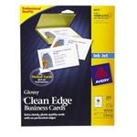 Avery 8879 Inkjet Business Cards, Glossy, 200/PK, White, AVE8879, AVE 8879