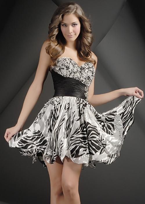 Zebra Print Cocktail Dresses - Fn Dress