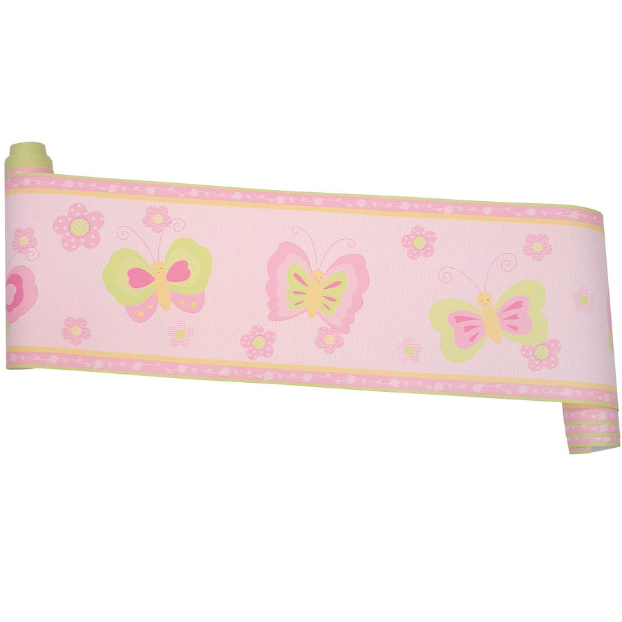 "Butterfly Garden Wall Border by Bedtime Originals. Size: 6"" x 15'. Prepasted"