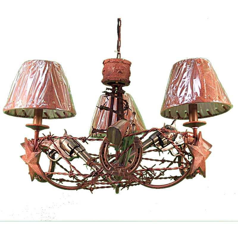 French Wire Basket Chandelier - Shades of Light