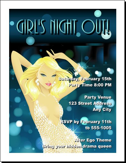 girls night out invitation. Blonde Girls Night Out Party