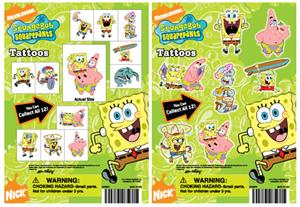 spongebob mini tattoos 1 inch