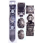 Nemesis Skull & Crossbone Band Flip Cuff Watch